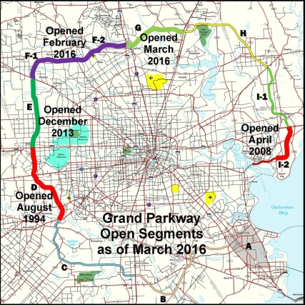 sh99 segments open as of 2016-03-31 square 750